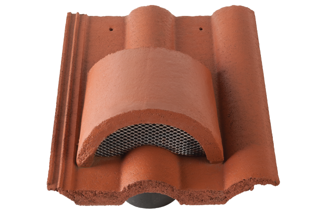 All Russell Roof tiles concrete fittings are Manufactured in accordance  with the requirements of BS EN 490  Concrete Roof Tiles and  Fittings Product. Concrete Hooded Vent Tile   Russell Roof Tiles