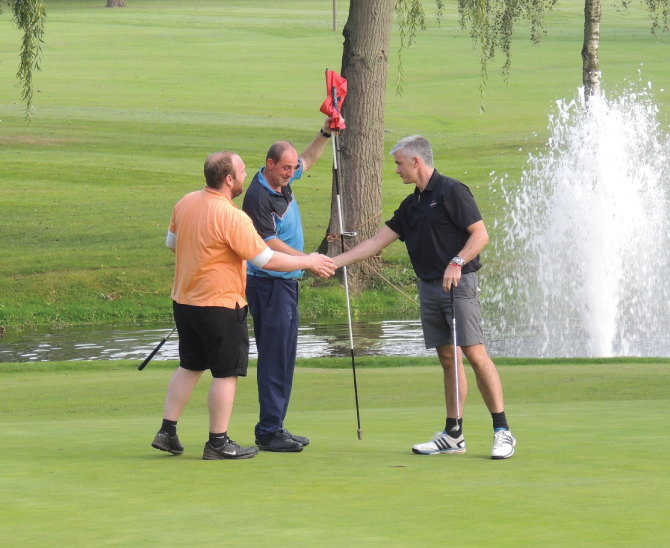 It S A Hole In One For Roofing Firm S Fundraiser Russell