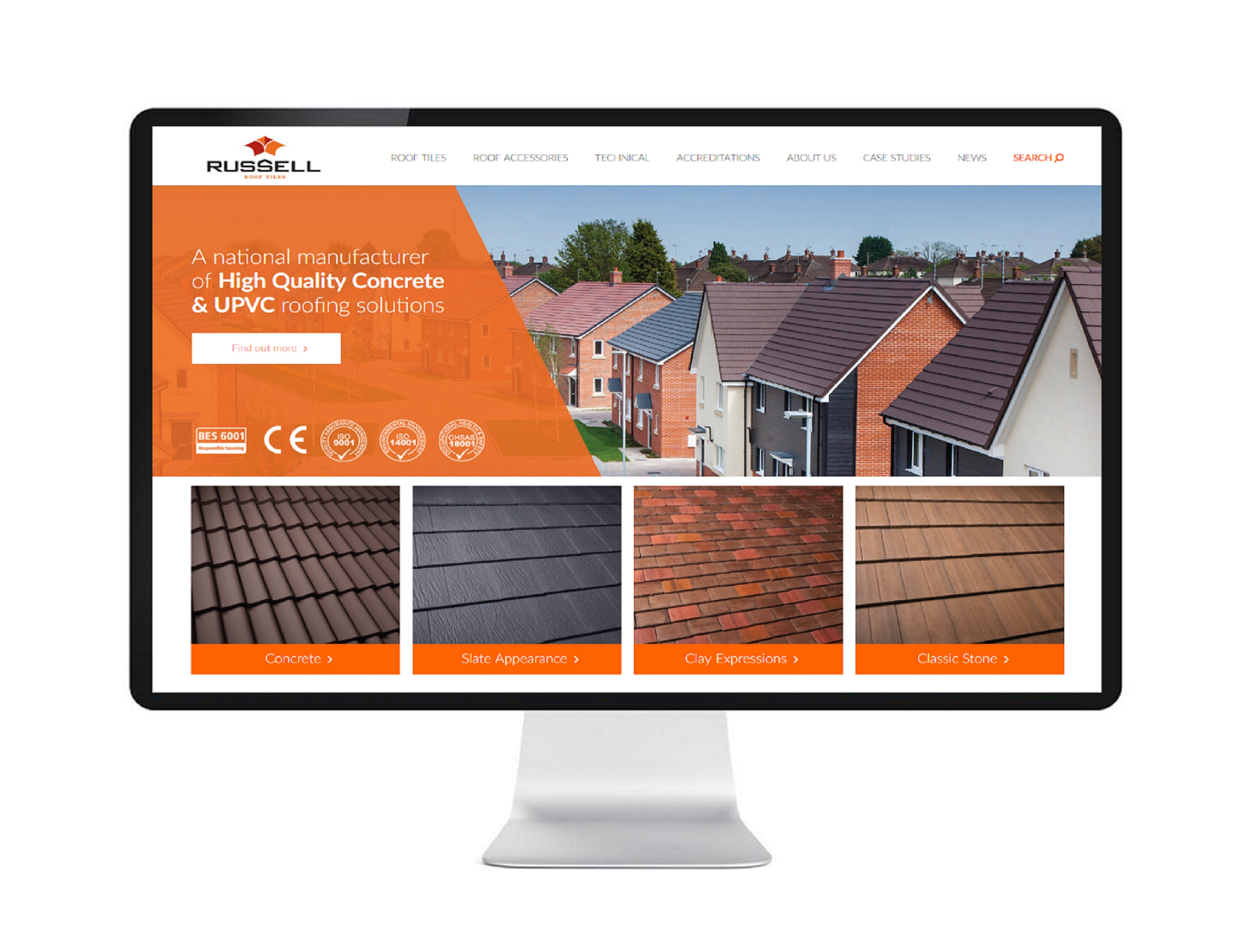 Russell Roof Tiles' website
