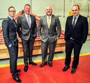 RRT Sales team Ross Hayward, Scott Summers, Gordon McKinnon and Rhodri Jones