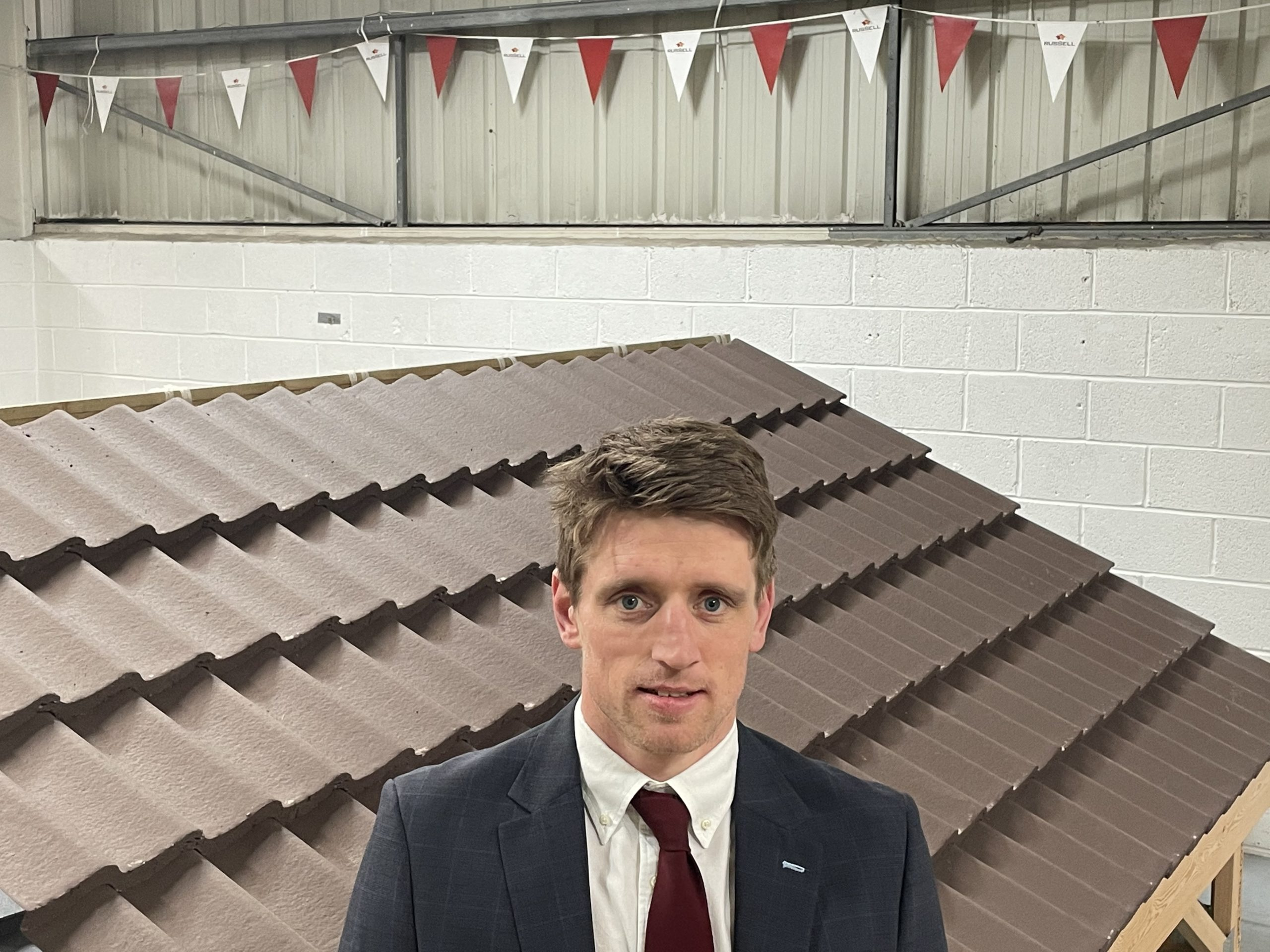 John Dervey, Sales Executive at Russell Roof Tiles covering the North East and Cumbria.