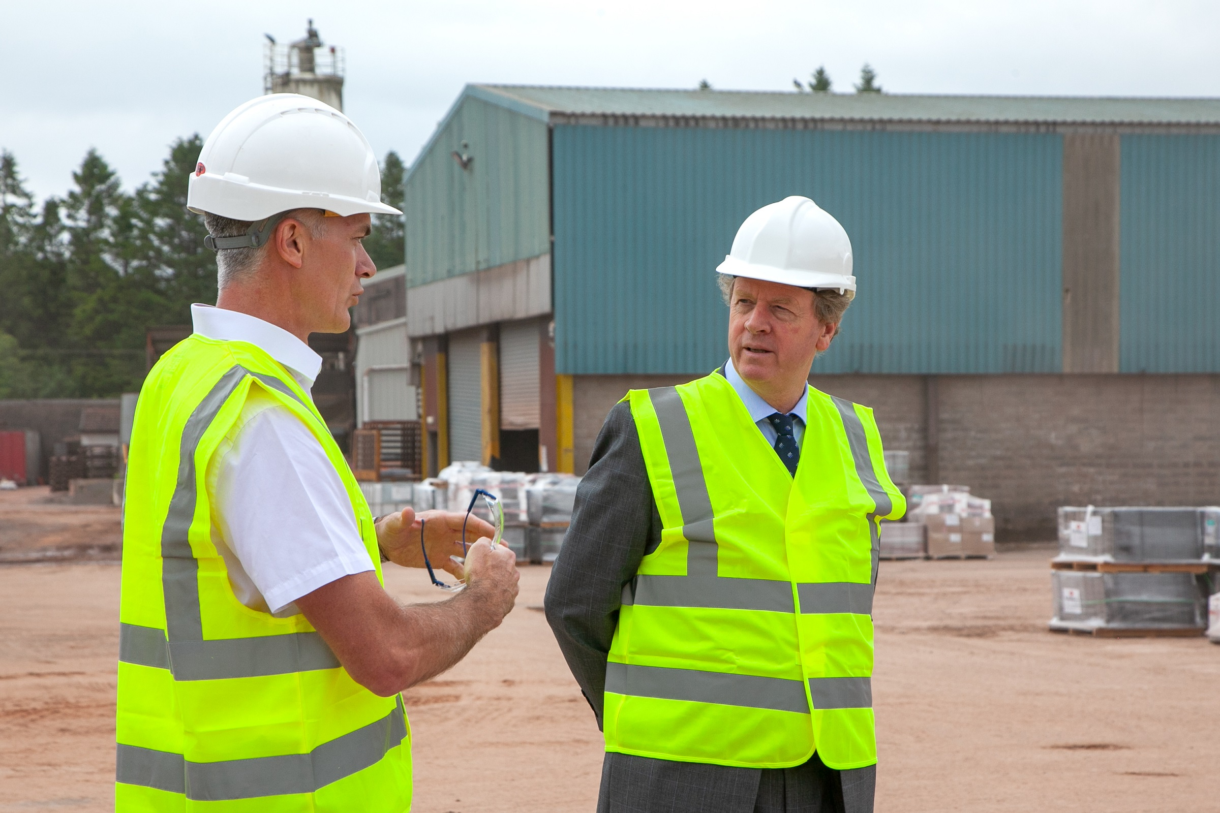 From L to R Bruce Laidlaw, Production Director at RRT and Scottish Sec Alister Jack