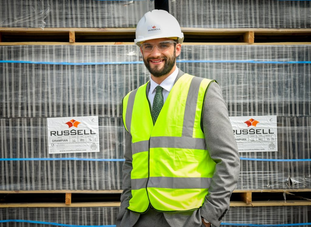 Daniel Hancox, Business Support Manager at Russell Roof Tiles