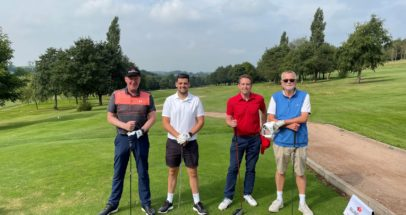Participants at Russell Roof Tiles annual golf tournament 2021